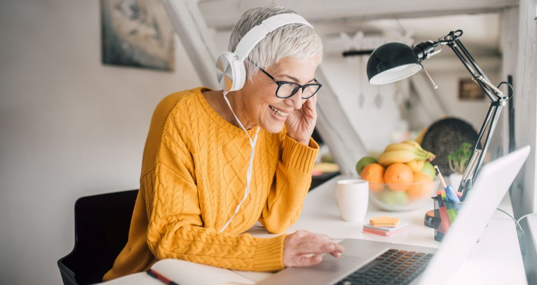 woman working from home non-technical recruiter
